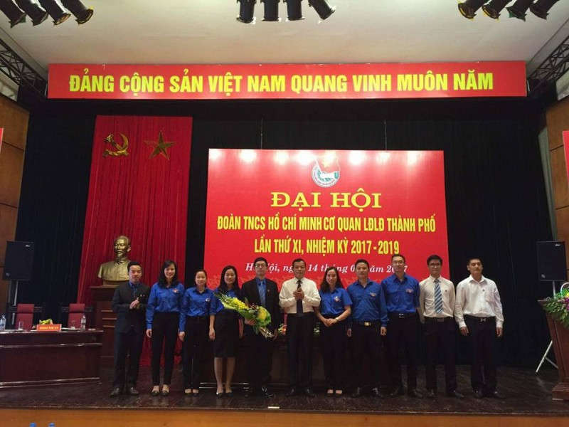 Đại hội Đoàn TNCS Hồ Chí Minh cơ quan LĐLĐ thành phố Hà Nội