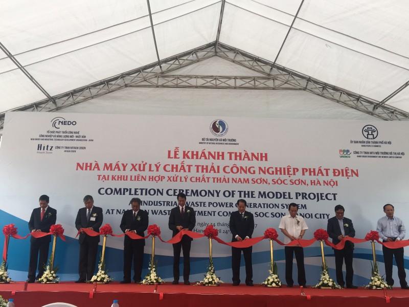 Khánh thành nhà máy xử lý chất thải công nghiệp phát điện tại Sóc Sơn