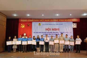 Công đoàn ngành Xây dựng Hà Nội phát động Tháng Công nhân
