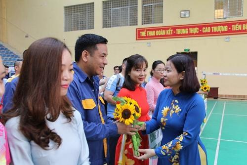 Tưng bừng khai mạc hội khỏe CNVCLĐ ngành Xây dựng Hà Nội