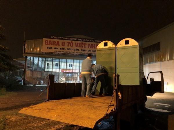 Hà Nội: Lắp đặt 60 nhà vệ sinh lưu động tại các chốt kiểm soát