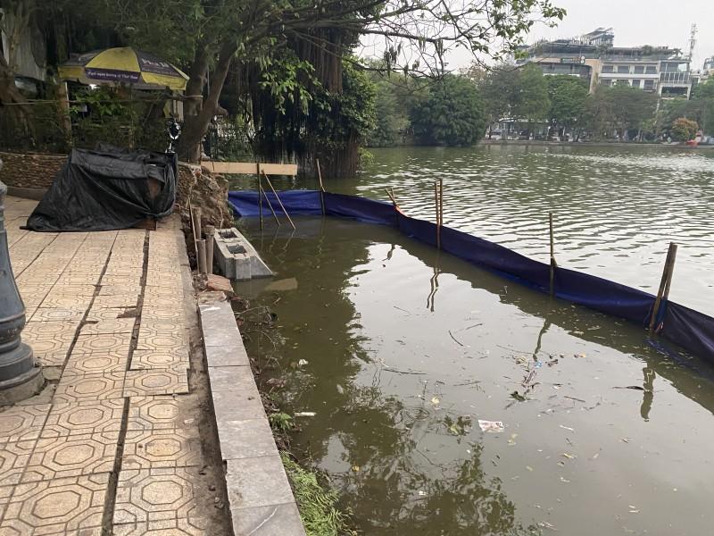 Thí điểm kè hồ Hoàn Kiếm bằng các cấu kiện bê tông đúc sẵn