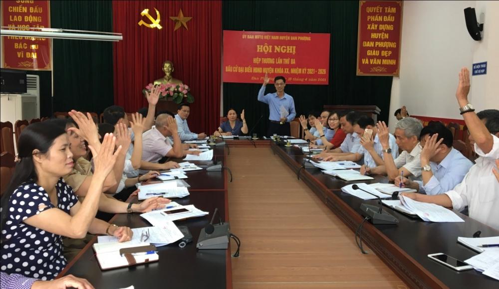 Đan Phượng hiệp thương lần ba, chốt danh sách người ứng cử đại biểu Hội đồng nhân dân huyện