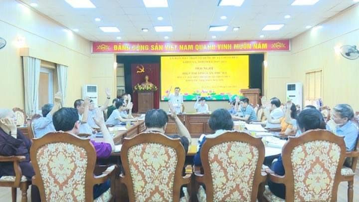 Huyện Hoài Đức chốt danh sách 59 người ứng cử đại biểu Hội đồng nhân dân cấp huyện