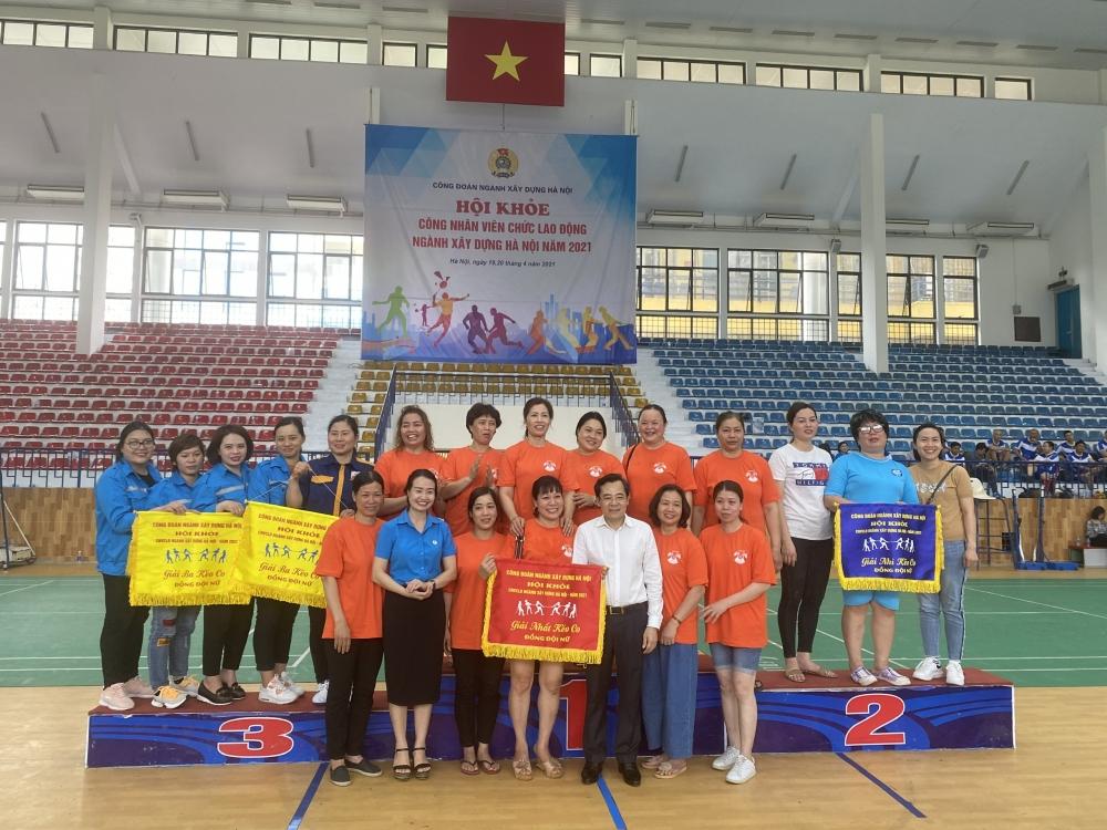 Công đoàn ngành Xây dựng Hà Nội khai mạc Hội khỏe công nhân viên chức lao động năm 2021