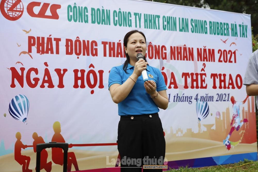 Công đoàn Công ty HHKT Chinlanshing Rubber Hà Tây hưởng ứng Tháng Công nhân năm 2021