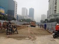 Hà Nội tiếp tục xén dải phân cách, chỉnh trang nhiều tuyến phố