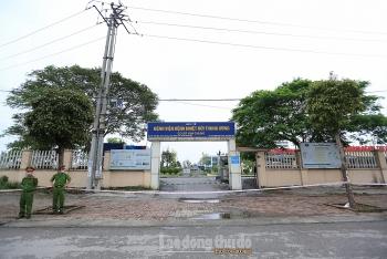 Lập chốt cách ly y tế Bệnh viện Bệnh Nhiệt đới Trung ương cơ sở Đông Anh