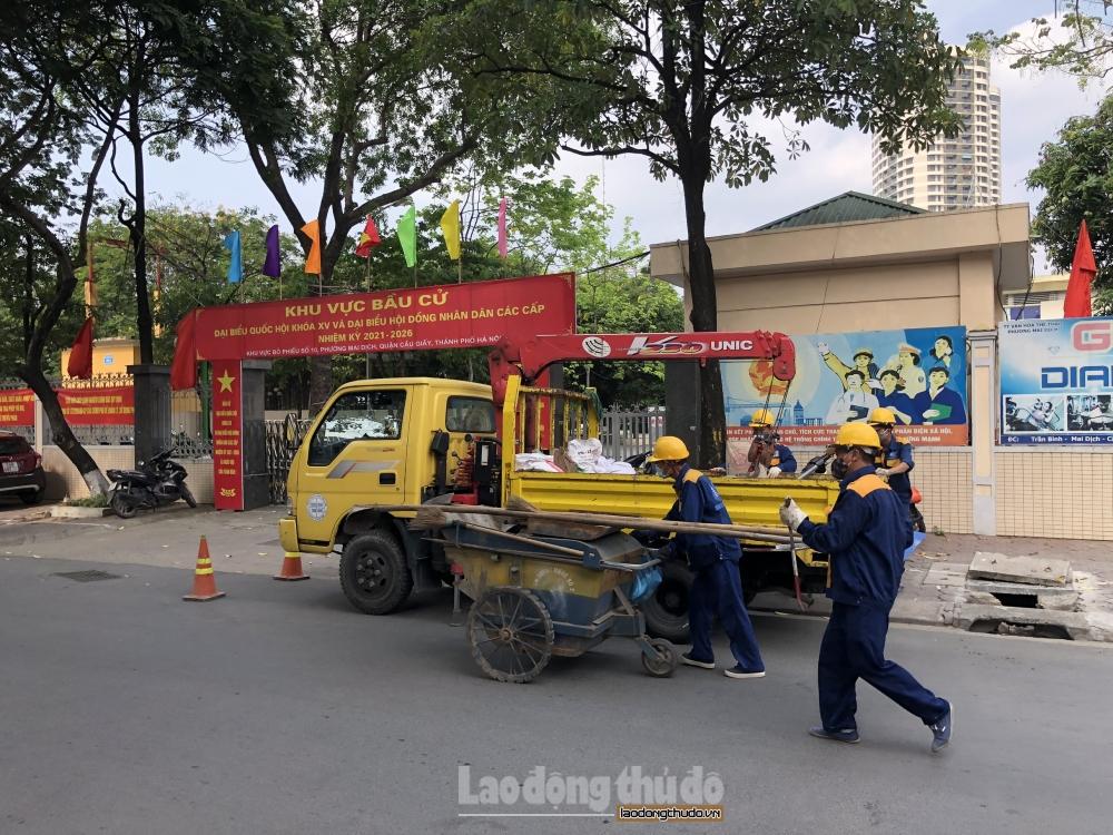 Hà Nội: Duy tu, bảo trì hệ thống thoát nước trên địa bàn, đảm bảo cho ngày bầu cử