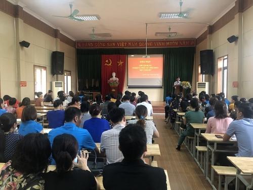 LĐLĐ huyện Hoài Đức tập huấn nghiệp vụ công tác công đoàn đợt 3 năm 2019