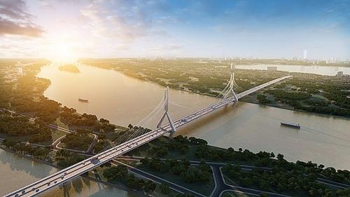 Hà Nội: Công bố phương án thiết kế cầu dây văng Tứ Liên nối liền Đông Anh - Tây Hồ
