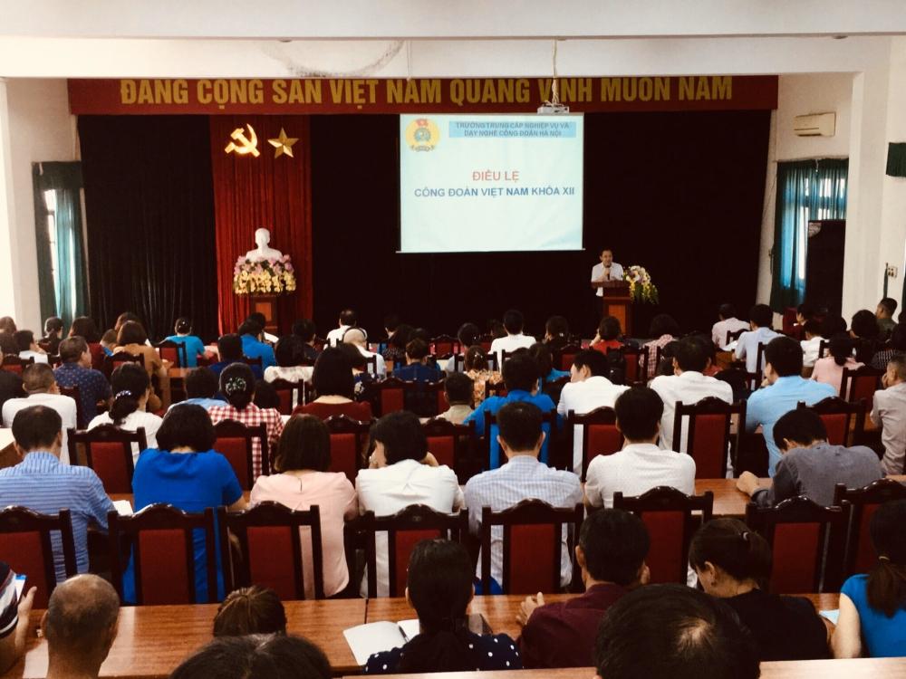 Công đoàn ngành Xây dựng Hà Nội tập huấn Điều lệ Công đoàn Việt Nam khóa XII