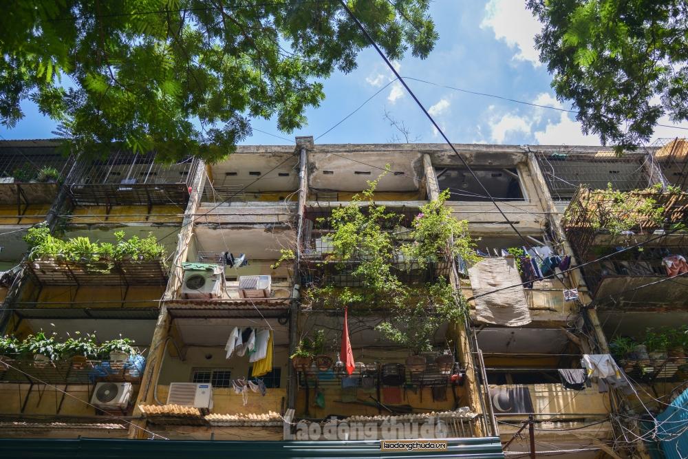 Mùa mưa bão và nỗi lo nhà chung cư cũ