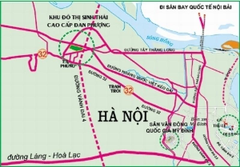 Phê duyệt chỉ giới đỏ tuyến đường Tây Thăng Long, quận Bắc Từ Liêm