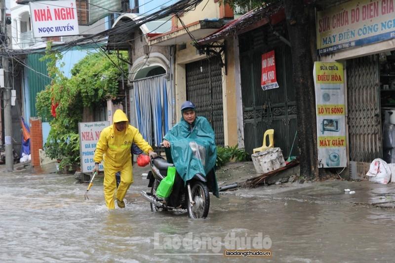 Hà Nội: Hoàn lưu bão số 2 khiến nhiều cây xanh bị đổ, một số tuyến phố úng ngập cục bộ