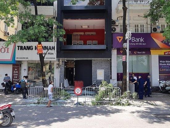 Hà Nội: Bình ga phát nổ tại nhà hàng khiến hai người bị thương
