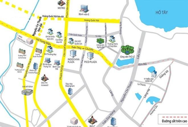 Điều chỉnh giao thông tại nút giao Nguyễn Cơ Thạch - Hồ Tùng Mậu