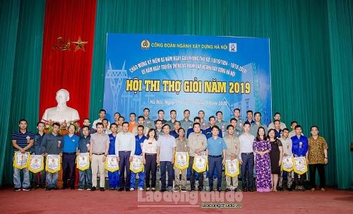 Tưng bừng Hội thi thợ giỏi ngành Xây dựng Hà Nội năm 2019