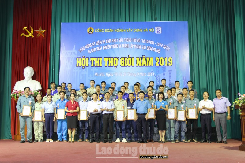 23 thí sinh đạt giải tại Hội thi tay nghề ngành Xây dựng Hà Nội 2019