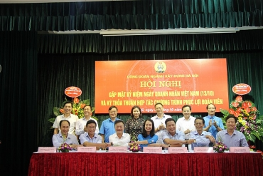 Công đoàn ngành Xây dựng Hà Nội ký kết hợp tác chương trình Phúc lợi đoàn viên