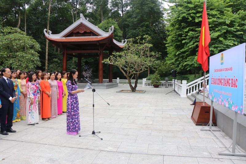 Công đoàn Ngành xây dựng Hà Nội tổ chức Lễ báo công dâng Bác