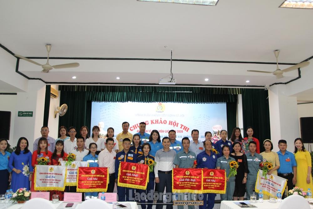 Sôi nổi hội thi an toàn vệ sinh viên giỏi Công đoàn ngành Xây dựng Hà Nội năm 2020