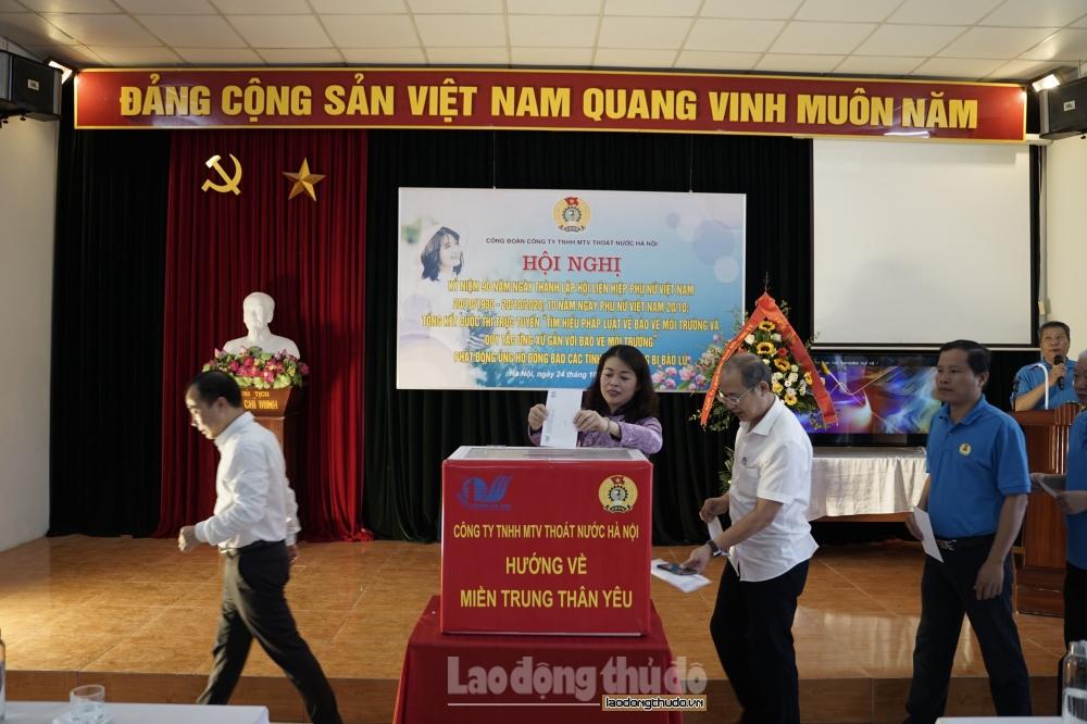 Sôi nổi giao lưu duyên dáng áo dài nữ đoàn viên công ty TNHH MTV Thoát nước Hà Nội
