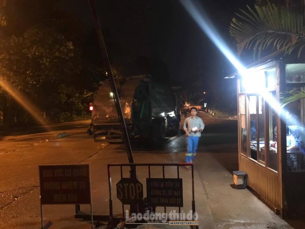 Hà Nội: Thông xe tại Khu liên hiệp xử lý chất thải Nam Sơn