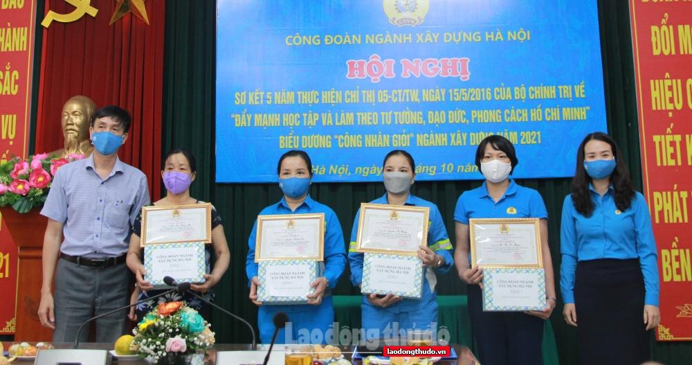 Sơ kết 5 năm thực hiện Chỉ thị 05 trong đoàn viên, CNVCLĐ ngành Xây dựng Hà Nội