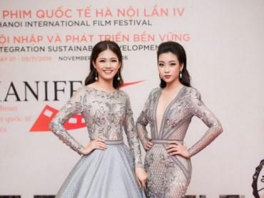 Hoa hậu Mỹ Linh, Á hậu Thanh Tú lộng lẫy trên thảm đỏ