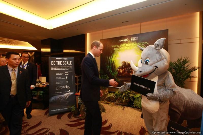 Hoàng tử William kêu gọi hành động quyết liệt hơn vì tê giác