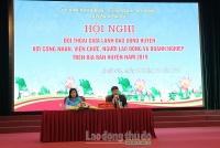 Chính quyền huyện Hoài Đức đối thoại với người lao động trên địa bàn