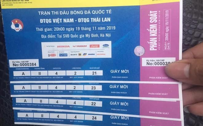 Triệt phá đường dây in vé giả, thu giữ hơn 1000 vé trận Việt Nam - Thái Lan