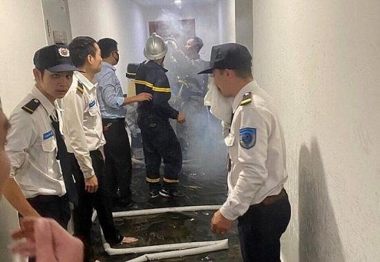 Hà Nội: Kịp thời khống chế đám cháy trên tầng 29 chung cư Goldmark City