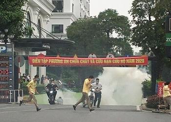 Diễn tập phòng cháy chữa cháy quy mô lớn tại Khu đô thị Royal City