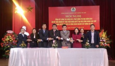 Công đoàn ngành Xây dựng Hà Nội phát động thi đua năm 2016