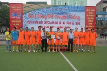 Trường ĐH Xây dựng Hà Nội vô địch Giải bóng đá quận Hai Bà Trưng 2016