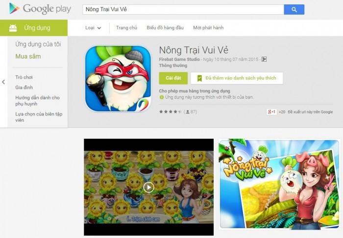 """Trò chơi """"Nông Trại Vui Vẻ"""" chính thức có trên hệ điều hành Android"""