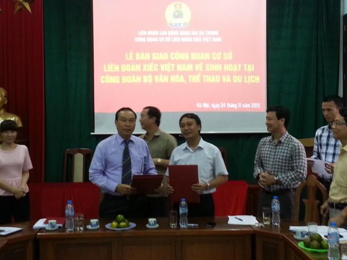 Bàn giao 240 đoàn viên công đoàn về Bộ Văn hóa Thể thao & Du lịch