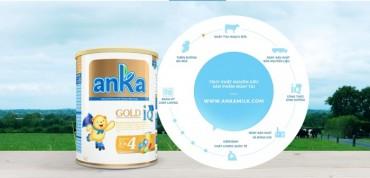 Anka - sản phẩm sữa bột đầu tiên cho phép truy xuất nguồn gốc