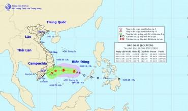 Bão số 1 suy yếu thành áp thấp nhiệt đới, miền Bắc tiếp tục có mưa nhỏ