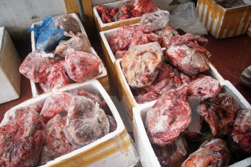 Thu giữ 27 tấn sản phẩm động vật không rõ nguồn gốc xuất xứ