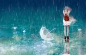 Trượt trong cơn mưa  trái mùa