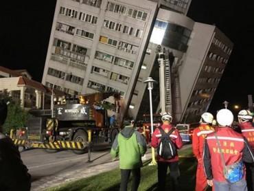Động đất 6,4 độ richter tại Đài Loan, hàng trăm người thương vong