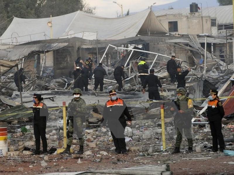 Nổ pháo hoa tại Mexico làm ít nhất 18 người thương vong
