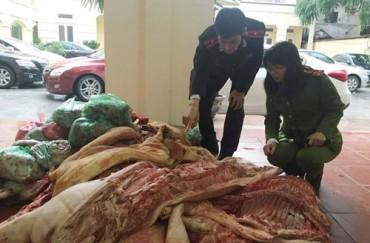 Thu giữ gần 1 tấn thịt đông lạnh hôi thối tại quận Bắc Từ Liêm