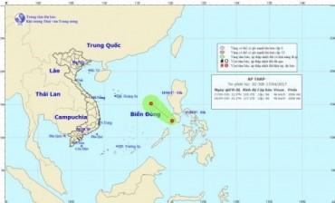 Áp thấp nhiệt đới xuất hiện trên biển, miền Bắc có mưa rào và dông