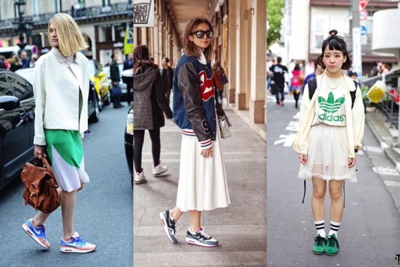 Giầy sneaker và váy, bộ đôi hoàn hảo cho cô nàng năng động