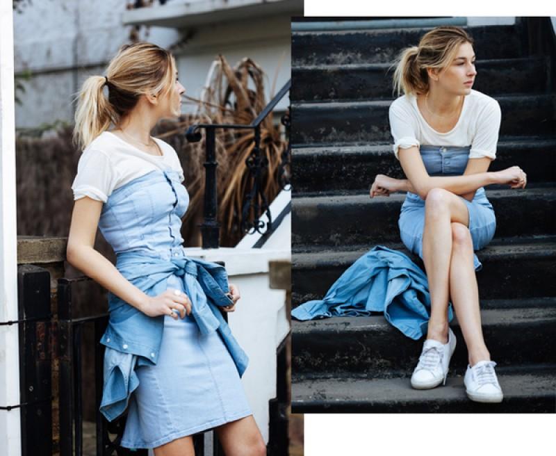 4 cách mix váy và giày sneaker dạo phố cho các cô nàng điệu đà
