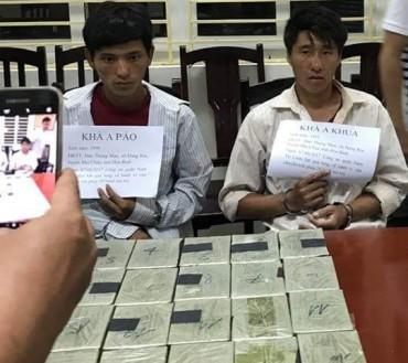 Hà Nội: Bắt 2 đối tượng giấu 20 bánh ma túy trong ba lô